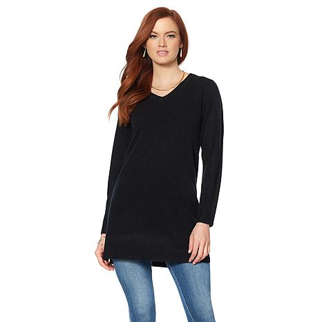Wendy Williams Sweater Knit V-Neck Tunic