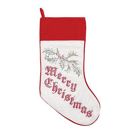 Wenham Holly Christmas Stocking