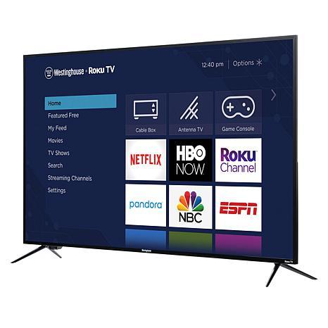 "Westinghouse 58"" 4K UHD Smart TV with Built-In Roku & 2-Year Warranty"