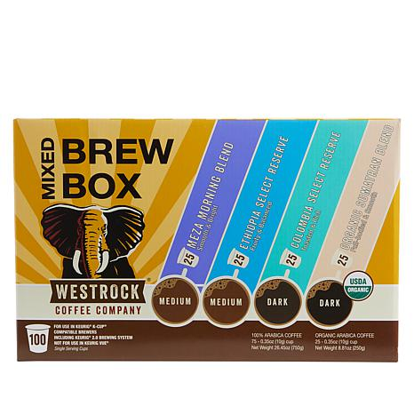 Westrock® Coffee Company Mixed Brew Box 100-ct Single Pods Auto-Ship®