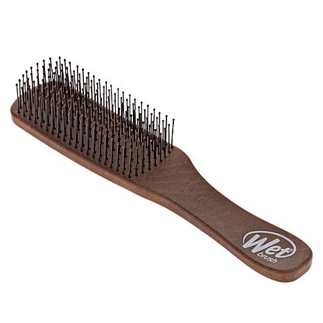 Wet Brush Men's Brown Leather Pattern Detangler Brush