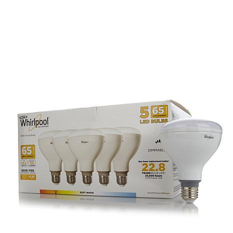 Whirlpool Dimmable 65W Equivalent LED Flood Light 5pk