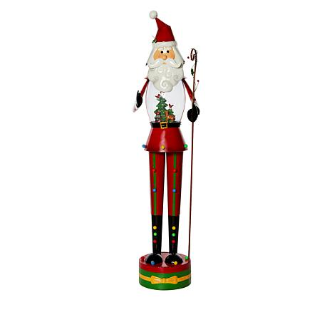 Wind & Weather 4' Santa Statue with Winter Scene and Lights