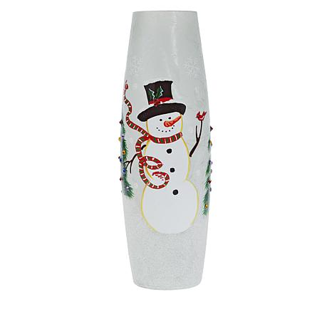 Wind and Weather Holiday LED Glass Vase