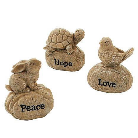 Wind and Weather Set of 3 Inspirational Resin Rocks