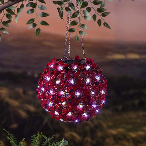 Wind and Weather Solar Hanging Flower Globe