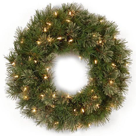 """Winter Lane 24"""" Atlanta Spruce Wreath w/Lights"""