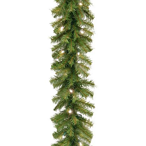 "Winter Lane 24""Battery-Operated Norwood Garland w/LEDs"