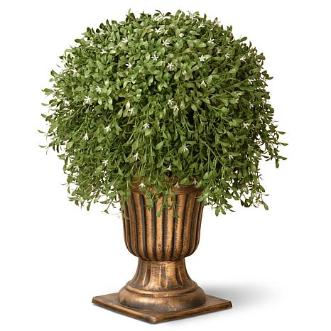 Winter Lane 26 Artificial Topiary Argentea Plant In Decorative Urn