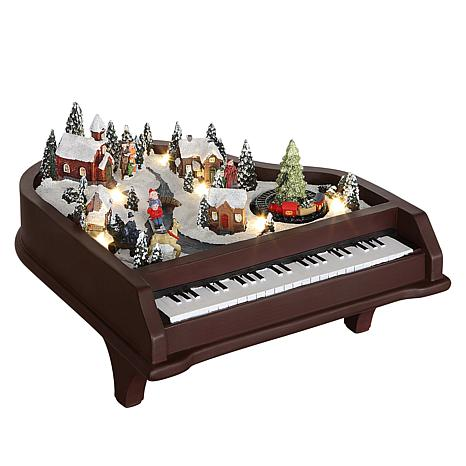 Winter Lane Animated Musical Piano
