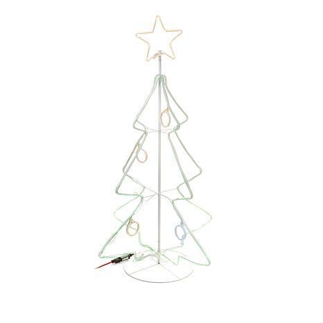 Winter Lane Indoor/Outdoor Neon-Look Christmas Tree