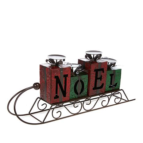 Winter Lane Sleigh Candleholder - Noel