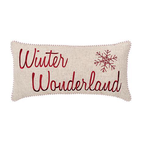 Winter Wonderland Embroidered Pillow