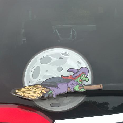 WiperTags Animated Rear Wiper – Witch with Moon