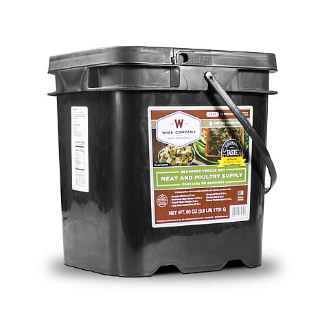 Wise Company 80-Serving Freeze-Dried Meat and Rice Kit