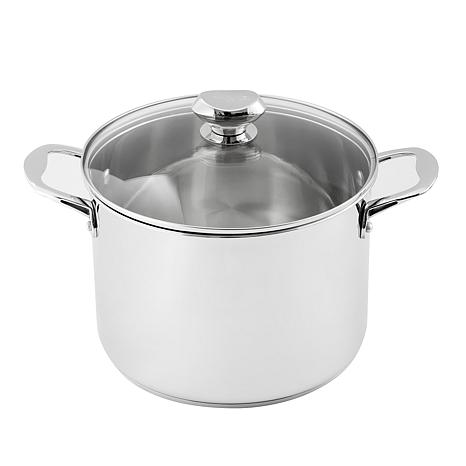 Wolfgang Puck 8-Quart Stainless Steel Stockpot with Lid