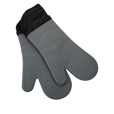 Wolfgang Puck Set of 2 Silicone and Cotton Oven Mitts