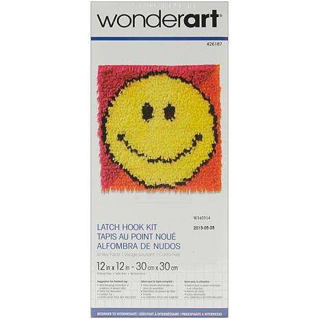 "Wonderart 12"" x 12"" Latch Hook Kit - Smiley Face"
