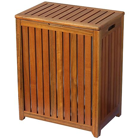 Wood Spa-Style Laundry Hamper