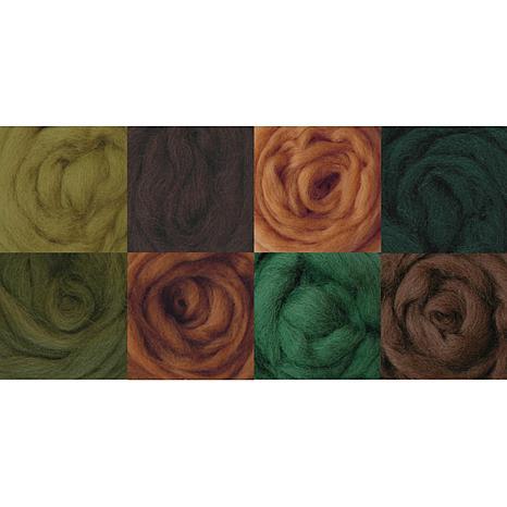 Wool Roving - Woodsy 8 Pack