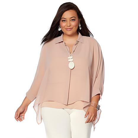 WynneLayers Chiffon Unstructured Shirt