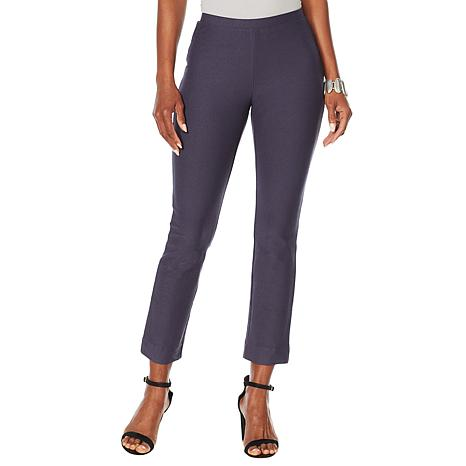WynneLayers Essential Crepe Ankle Pant - Taupe or Inky Blue