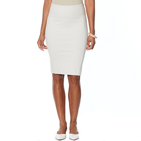WynneLayers LuxeKnit Pull-On Pencil Skirt