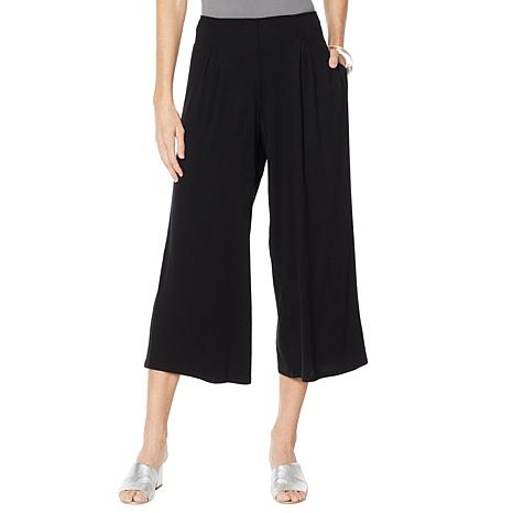 WynneLayers Pleat Front Pull-On Knit Cropped Pant