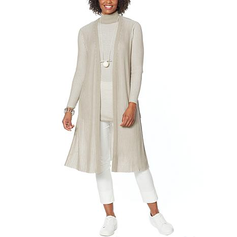 WynneLayers Ribbed Knit Sweater Duster