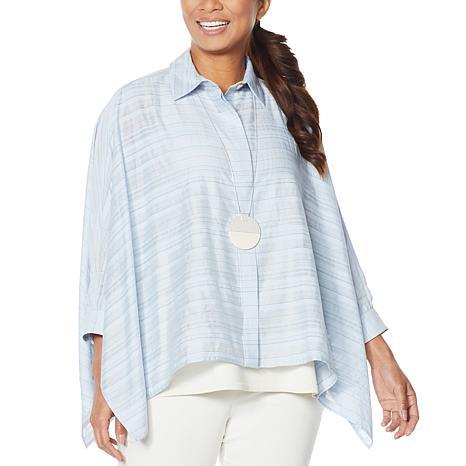 WynneLayers Sheer Gauzey Unstructured Shirt