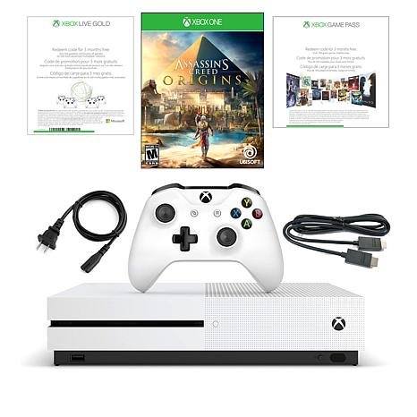 """Xbox One S 4K 500GB Console with """"Assassin's Creed: Origins"""" Game"""