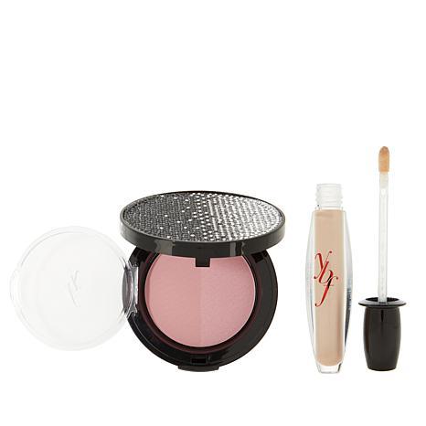 ybf Double Blushing Duo & Creme Brulee Lip Gloss - Plum