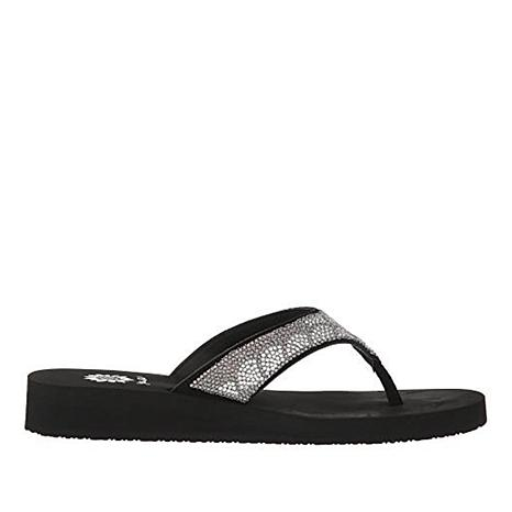 Yellow Box Zippie Leather Embellished Thong Sandal