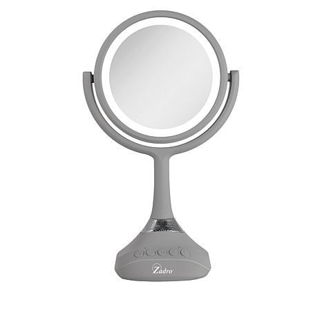 Zadro Dual Sided Bluetooth LED Vanity Mirror