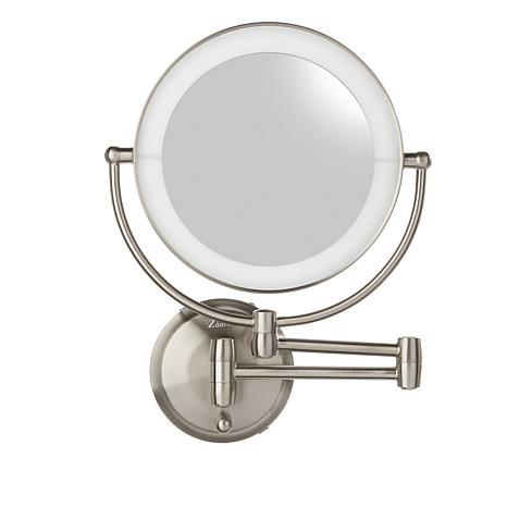 Zadro LED Round Wall Mount Mirror - Satin Nickel