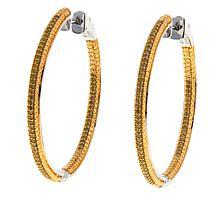 0.50ctw Colored Diamond Inside-Outside Hoop Earrings
