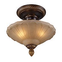 "12"" Restoration Semi-Flush Ceiling Light - Gold Bronze"