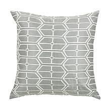 "18"" x 18"" Hexagon Pillow - Gray/Silver"