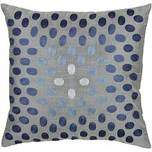 "18"" x 18"" Thumbprint Pillow - Gray/Blue"