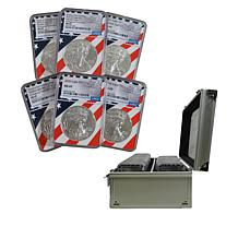 1986-2021 Set of 40 MS69 Silver Eagle Coins with Flag Core