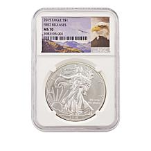 2015 MS70 NGC First  Release Silver Eagle Dollar Coin