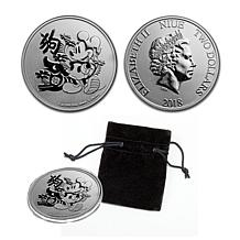 2018 BU Disney Lunar Year of the Dog Country of Niue $2 Silver Coin