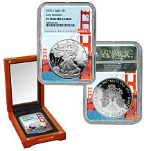 2018-S PF70 NGC Early Release Ultra Cameo Silver Eagle Dollar Coin