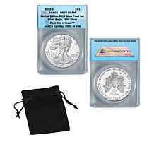 2019 PR70 DCAM FDOI LE 686 Silver Eagle from 2019 Silver Proof Set