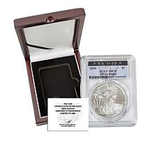 2020 MS70 PCGS Premier Label Silver Eagle Dollar Coin