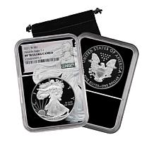 2021 PF70 NGC Type 1 Heraldic Silver Eagle Dollar Coin