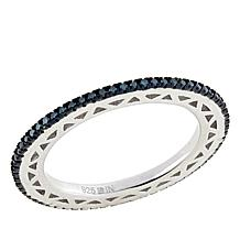 .25ctw Colored Diamond Sterling Silver Eternity Band Ring