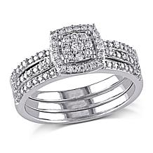 .35ctw Engagement Ring and Wedding Band 10K Gold 3pc Set