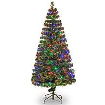 6' Crestwood Fiber Optic Evergreen Tree