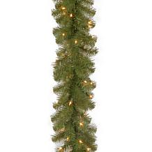 9' N. Valley Spruce Garland w/Lights